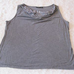 Apt. 9 Sleeveless Sequin Blouse Size XL